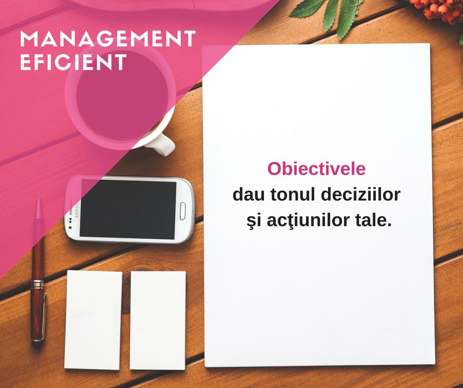 management eficient prin obiective